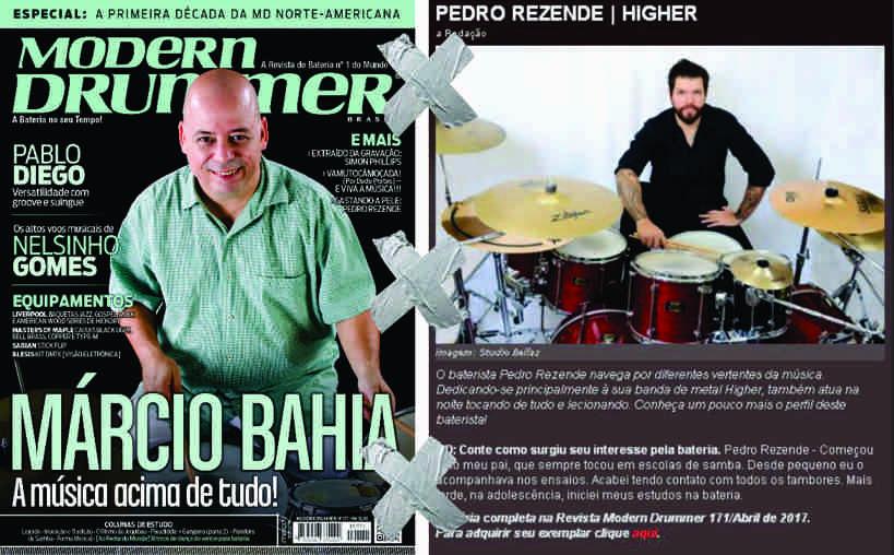 Higher: entrevista com Pedro Rezende na nova edição da Modern Drummer