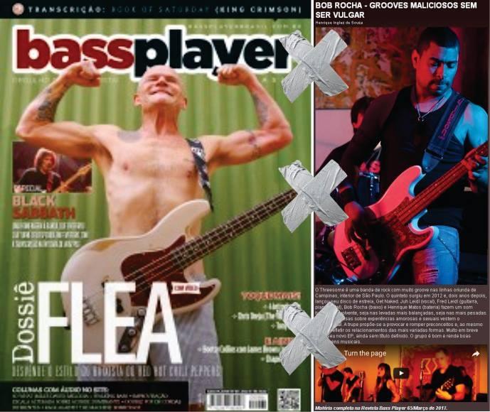Threesome: Bob Rocha na nova edição da revista Bass Player