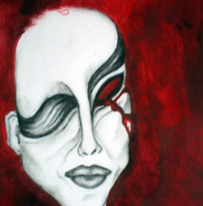 Psychotic Eyes: artista-plástica Nua Estrela assina capa de disco acústico de death metal