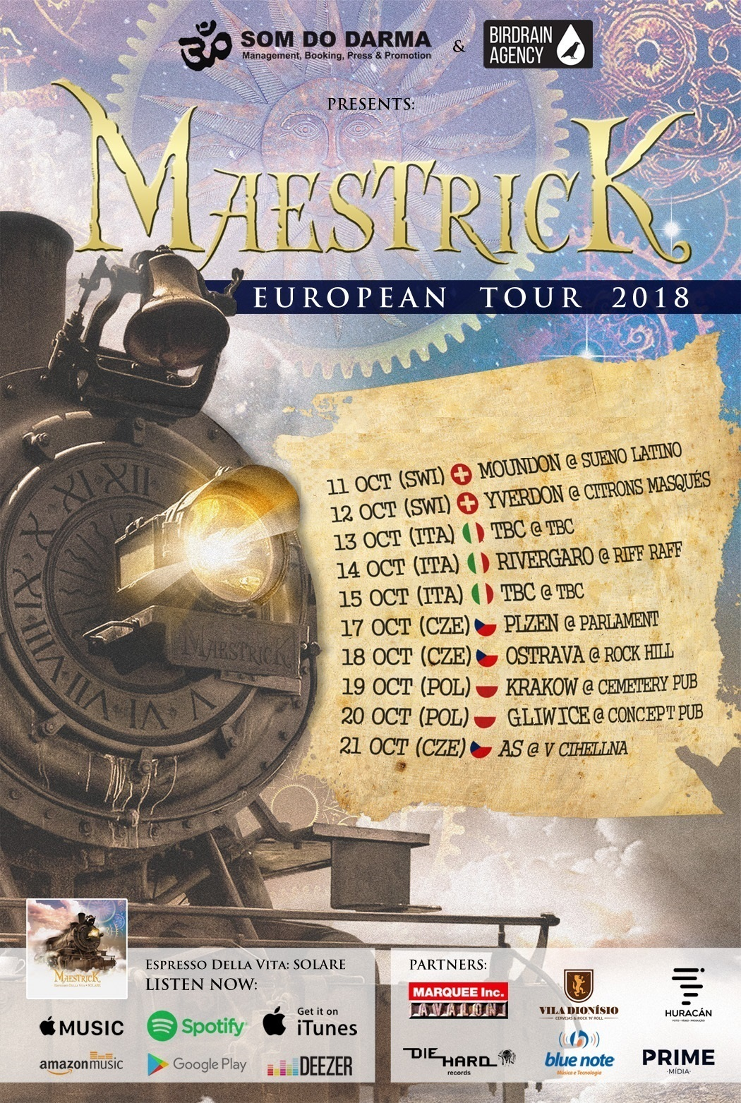Cartaz Maestrick European Tour 2018