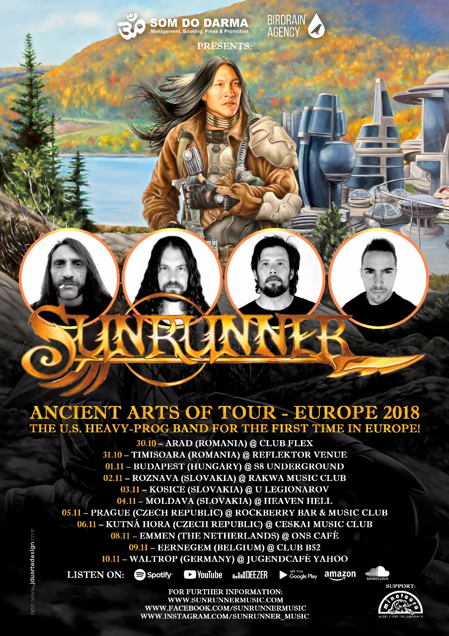 Sunrunner - European Tour 2018 - Official Poster