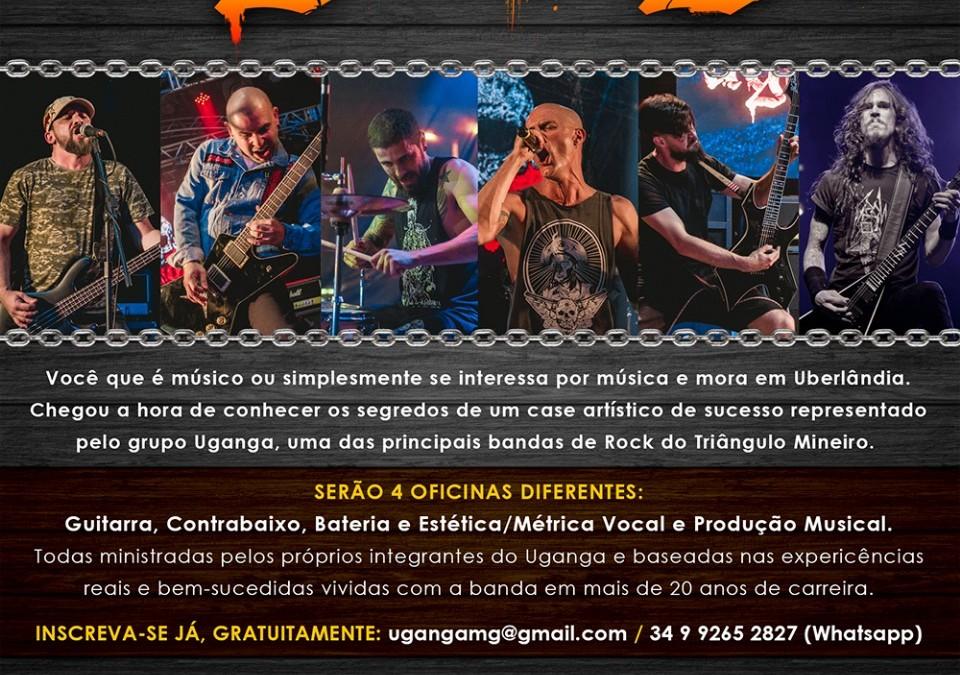 """Projeto de contrapartida do Programa Municipal de Incentivo à Cultura de Uberlândia, """"Uganga Oficinas Musicais"""" acontece  gratuitamente na cidade em Fevereiro"""