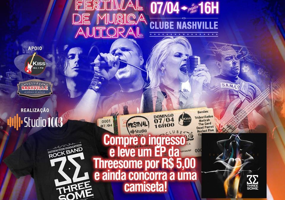 Threesome grava AC/DC e faz show em Campinas neste domingo