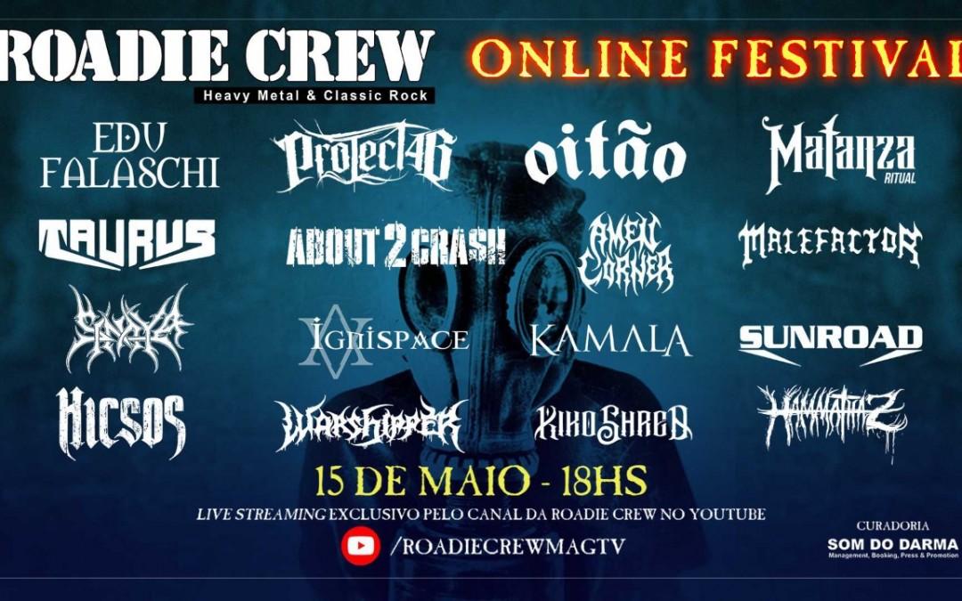 """Segunda edição do """"Roadie Crew – Online Festival"""" acontece nesta sexta-feira"""