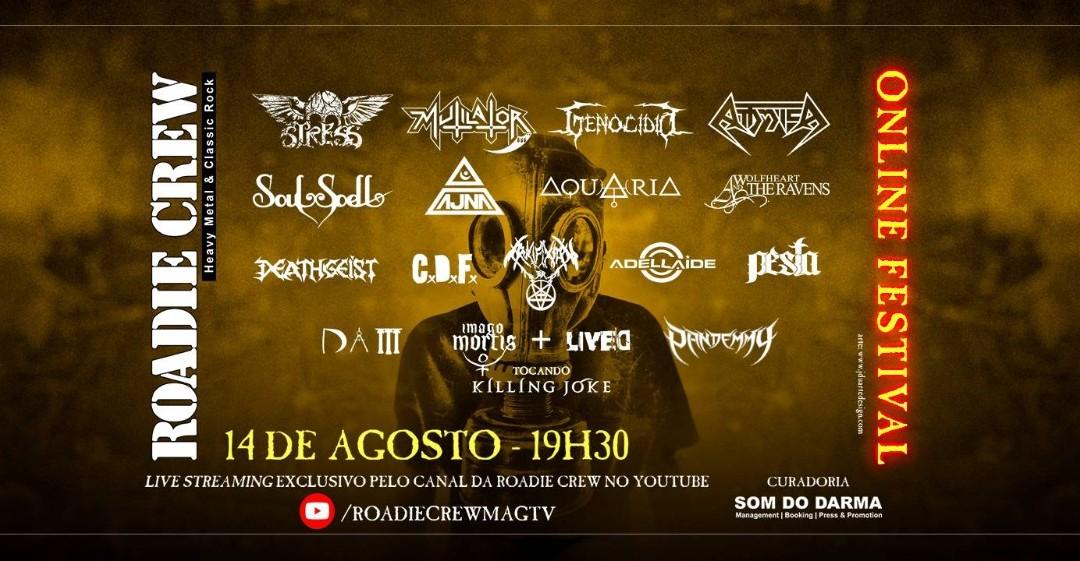 """Bandas clássicas do metal nacional invadem o """"Roadie Crew – Online Festival"""" de Agosto"""