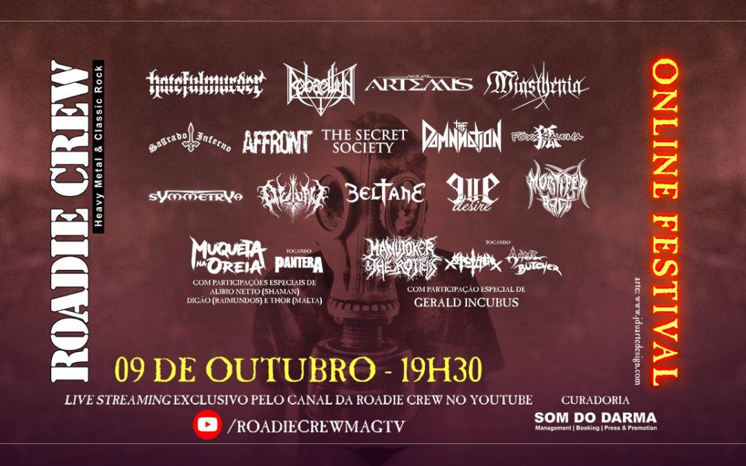 """""""Roadie Crew – Online Festival"""" chega à sua sétima edição sendo a principal referência de eventos online de metal no Brasil"""