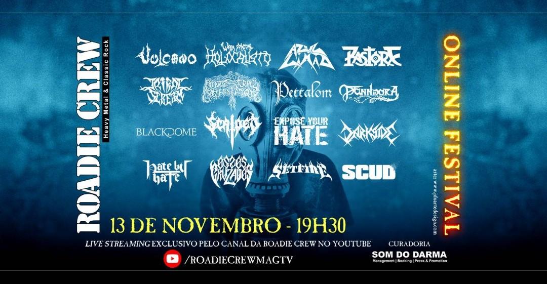 """Em mais uma edição, """"Roadie Crew – Online Festival"""" legitima a hegemonia da cena contemporânea de heavy metal no Brasil"""
