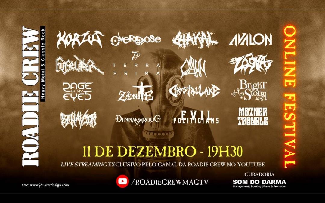 """Na última edição de 2020, """"Roadie Crew – Online Festival"""" reúne bandas clássicas e novas promessas do metal brasileiro"""